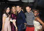 The Gossip Table starring hosts Chloe Melas, Marianne Garvey, Rob Shuter (Days of Our Lives (C), Noah Levy, Delaina Dixon (Daily Gals Diva) at the launch party to celebrate our new VH1 morning show beginning June 3 - party was on May 30, 2013 at Catch Roof, New York City, New York. (Photo by Sue Coflin/Max Photos)