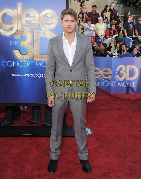 Chord Overstreet .attends The 20th Century Fox 'Glee 3D' Concert World Movie Premiere held at The Regency Village theatre in Westwood, California, USA, .August 6th 2011..full length suit  black shoes  grey gray white shirt .CAP/RKE/DVS.©DVS/RockinExposures/Capital Pictures.