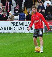 Lincoln City's Lee Frecklington during the pre-match warm-up<br /> <br /> Photographer Andrew Vaughan/CameraSport<br /> <br /> The EFL Sky Bet League Two - Stevenage v Lincoln City - Saturday 8th December 2018 - The Lamex Stadium - Stevenage<br /> <br /> World Copyright © 2018 CameraSport. All rights reserved. 43 Linden Ave. Countesthorpe. Leicester. England. LE8 5PG - Tel: +44 (0) 116 277 4147 - admin@camerasport.com - www.camerasport.com