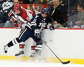 Max Everson (Harvard - 44), Trent Ruffolo (Yale - 11) - The Yale University Bulldogs defeated the Harvard University Crimson 5-1 on Saturday, November 3, 2012, at Bright Hockey Center in Boston, Massachusetts.