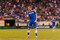 Chelsea F. C. forward Andre Schurrle (14) celebrates scoring. Chelsea F. C. defeated A. C. Milan 2-0 during round two of the 2013 Guinness International Champions Cup at MetLife Stadium in East Rutherford, NJ, on August 04, 2013.