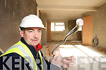 VANDALISED: Ger McGrath, Foreman with Pembroke Construction showing some of the 30,000 worth of damage to the new Community Centre in Rathoonane, Tralee, after thieves attacked on Tuesday night, 27th March. ..