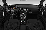 Stock photo of straight dashboard view of 2018 Audi TT-Coupe  2.0T-quattro-S-tronic 2 Door Coupe