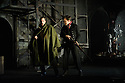"""English Touring Opera presents """"Don Giovanni"""", by Wolfgang Amadeus Mozart, at the Hackney Empire.  Directed by Lloyd Wood, with set & costume design by Anna Fleischle and lighting design by Guy Hoare. Picture shows:  George von Bergen (Don Giovanni), Bradley Travis (Masetto)."""
