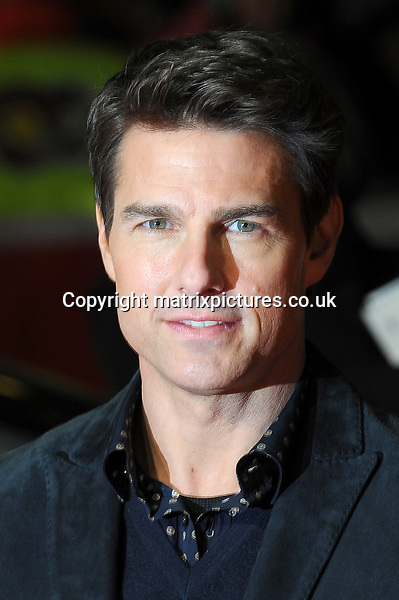 NON EXCLUSIVE PICTURE: PAUL TREADWAY / MATRIXPICTURES.CO.UK.PLEASE CREDIT ALL USES..WORLD RIGHTS..American actor Tom Cruise attending the world premiere of Jack Reacher, held at the Odeon Leicester Square in central London...DECEMBER 10th 2012..REF: PTY 125852