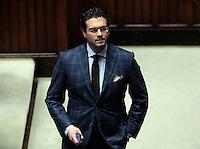 Ernesto Carbone<br /> Roma 25-02-2014 Camera. Voto di fiducia al nuovo Governo.<br /> Senate. Trust vote for the new Government.<br /> Photo Samantha Zucchi Insidefoto