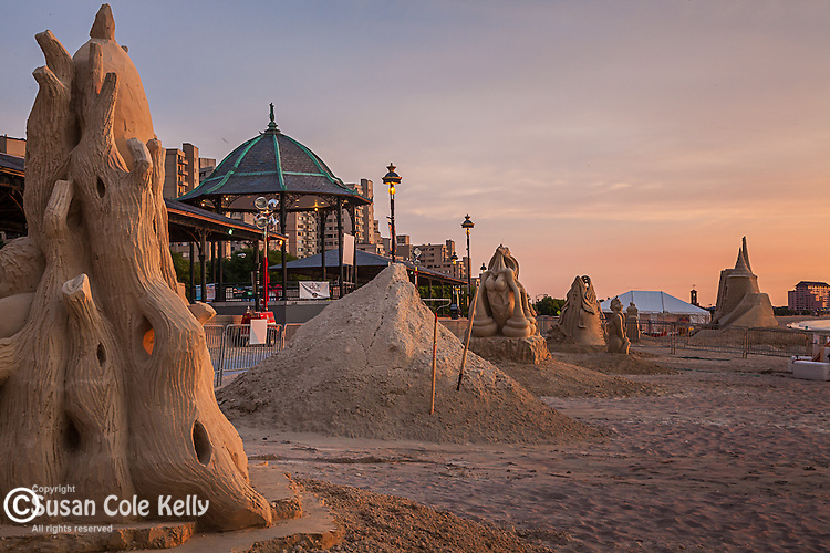 Sand sculpture contest at the Bandstand on Revere Beach, Revere, MA, USA