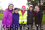 Attending the Tralee ParkRun on New Years Day, l-r, Christine Barry, Mary Devane, Marguerite Cahill, Mag O'Callaghan and Megan Cahill.