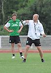 FBL 09/10 Traininglager  Werder Bremen Norderney 2007 Day 01<br /> Abendtraining <br /> <br /> <br /> Thomas Schaaf ( Bremen GER - Trainer  COACH) und Sebastian Pr&ouml;dl ( Werder Bremen AUT #15)<br /> <br /> Foto &copy; nph (nordphoto)
