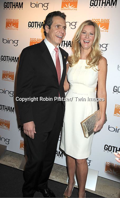 Governor Andrew Cuomo and girlfriend Sandra Lee attend The Gotham Magazine 11th Anniversary Party hosted by Sandra Lee  at The Four Seasons Restaurant presented by Bing on February 16, 2012 in New York City.