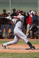 February 28, 2010:  Catcher Michael (Mike) Kvasnicka of the Minnesota Golden Gophers during the Big East/Big 10 Challenge at Raymond Naimoli Complex in St. Petersburg, FL.  Photo By Mike Janes/Four Seam Images