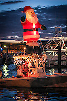 SANTA SIGHTING !!! Naples Bay Christmas Boat Parade, Marine Industries Foundation, benefiting the Ricky King Fund, Naples, Florida, USA, Dec. 8, 2012... photo by Debi Pittman Wilkey