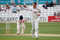 Peter Siddle of Essex claims the wicket of Michael Burgess during Essex CCC vs Warwickshire CCC, Specsavers County Championship Division 1 Cricket at The Cloudfm County Ground on 14th July 2019