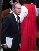 Former United States President George W. Bush during the National funeral service in honor of the late former US President George H.W. Bush at the Washington National Cathedral in Washington, DC on Wednesday, December 5, 2018.<br /> Credit: Ron Sachs / CNP<br /> (RESTRICTION: NO New York or New Jersey Newspapers or newspapers within a 75 mile radius of New York City)