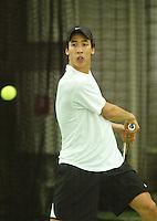 10-3-06, Netherlands, tennis, Rotterdam, National indoor junior tennis championchips, Gregory Chin A Kwie