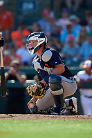 Detroit Tigers catcher Grayson Greiner (17) during a Grapefruit League Spring Training game against the Baltimore Orioles on March 3, 2019 at Ed Smith Stadium in Sarasota, Florida.  Baltimore defeated Detroit 7-5.  (Mike Janes/Four Seam Images)