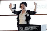 SAN SEBASTIAN, ESPANHA, 26 SETEMBRO 2012 - FESTIVAL DE CINEMA DE SAN SEBASTIAN - A diretora Emily Tang durante divulgação do filme 'All Apologies', durante o 60º Festival de Cinema de San Sebastian, em San Sebastian, norte da Espanha, nesta quarta-feira, 26. (FOTO: ALFAQUI / BRAZIL PHOTO PRESS).
