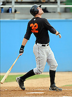 June 20, 2008: Catcher Matt Wieters (32) of the Frederick Keys, Carolina League affiliate of the Baltimore orioles, in a game against the Potomac Nationals at G. Richard Pfitzner Stadium in Woodbridge, Va. Photo by:  Tom Priddy/Four Seam Images