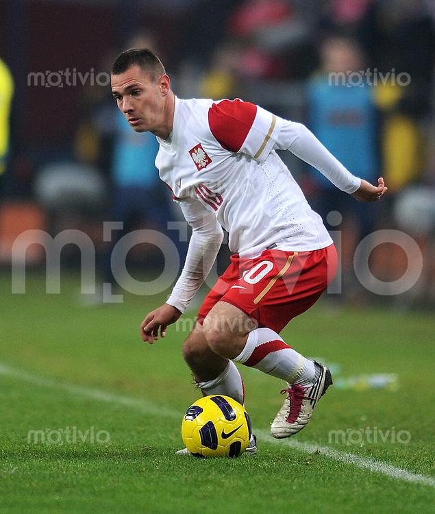 FUSSBALL INTERNATIONAL      17.11.2010 Freundschaftsspiel, Polen - Elfenbeinkueste Ludovic Obraniak (Polen)
