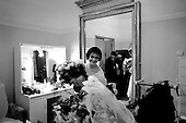 "St. Petersburg, Russia  .1998.Backstage in her dressing room Ylyana Lopatkina is covered in flowers after her opening performance of ""The Young Man and Death"" a production by Francois Andrei at the Mariinsky Theater.."