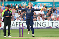 Simon Harmer in bowling action for Essex during Essex Eagles vs Surrey, NatWest T20 Blast Cricket at The Cloudfm County Ground on 7th July 2017
