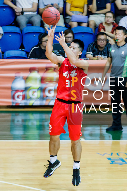 Lin Ho Chun #31 of SCAA Men's Basketball Team shoots the ball against the Fukien during the Hong Kong Basketball League game between SCAA and Fukien at Southorn Stadium on June 01, 2018 in Hong Kong. Photo by Yu Chun Christopher Wong / Power Sport Images