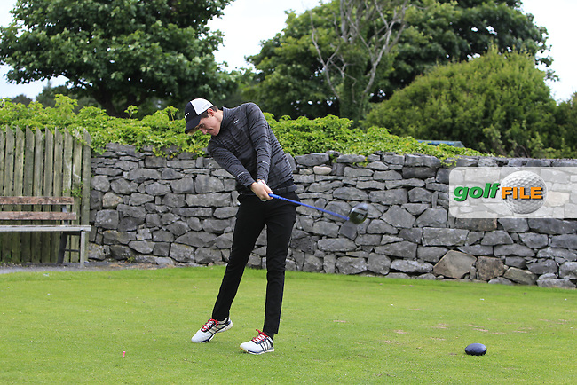 Brian Houston (Lisburn) on the 1st tee during R2 of the 2016 Connacht U18 Boys Open, played at Galway Golf Club, Galway, Galway, Ireland. 06/07/2016. <br /> Picture: Thos Caffrey   Golffile<br /> <br /> All photos usage must carry mandatory copyright credit   (&copy; Golffile   Thos Caffrey)