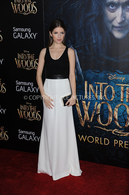 WWW.ACEPIXS.COM<br /> December 8, 2014 New York City<br /> <br /> Anna Kendrick attending the World Premiere of 'Into the Woods' at the Ziegfeld Theatre on December 8, 2014 in New York City.<br /> <br /> Please byline: Kristin Callahan/AcePictures<br /> <br /> Tel: (212) 243 8787 or (646) 769 0430<br /> e-mail: info@acepixs.com<br /> web: http://www.acepixs.com