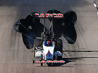 Feb 26, 2016; Chandler, AZ, USA; NHRA top fuel driver Steve Torrence during qualifying for the Carquest Nationals at Wild Horse Pass Motorsports Park. Mandatory Credit: Mark J. Rebilas-