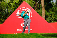 Tommy Fleetwood (ENG) on the 9th tee during the 2nd round at the WGC HSBC Champions 2018, Sheshan Golf CLub, Shanghai, China. 26/10/2018.<br /> Picture Fran Caffrey / Golffile.ie<br /> <br /> All photo usage must carry mandatory copyright credit (&copy; Golffile | Fran Caffrey)