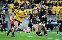 Damien McKenzie in action during the Super Rugby match between the Hurricanes and Chiefs at Westpac Stadium in Wellington, New Zealand on Friday, 13 April 2018. Photo: Dave Lintott / lintottphoto.co.nz