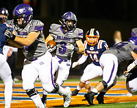 Fayetteville running back Jacob Sharits runs the ball against Rogers Heritage at Gates Stadium, Rogers, AR on November 1, 2019 / Special to NWA Democrat Gazette David Beach