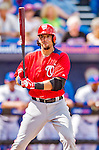 23 February 2013: Washington Nationals first baseman Chris Marrero in Spring Training action against the New York Mets at Tradition Field in Port St. Lucie, Florida. The Mets defeated the Nationals 5-3 in their Grapefruit League Opening Day game. Mandatory Credit: Ed Wolfstein Photo *** RAW (NEF) Image File Available ***