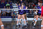 Jordan Hefner (1) of the High Point Panthers during the match against the Liberty Flames at the Millis Athletic Center on September 23, 2016 in High Point, North Carolina.  The Panthers defeated the Flames 3-1.   (Brian Westerholt/Sports On Film)