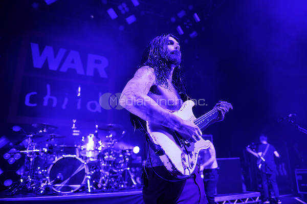 LONDON, ENGLAND - FEBRUARY 20: Simon Neil of 'Biffy Clyro' performing for 'War Child' at Shepherd's Bush Empire on February 20, 2017 in London, England.<br /> CAP/MAR<br /> &copy;MAR/Capital Pictures /MediaPunch ***NORTH AND SOUTH AMERICAS ONLY***