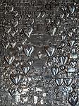 Wilno, 08.07.2014. Kaplica Ostrobramska - wota dziękczynne ze złota i srebra zdobiące ściany kaplicy.