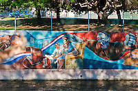 """Jewish American"" Great Wall Mural, Los Angeles, CA, Tujunga Wash, Sub Watershed, LA River, San Fernando Valley, Los Angeles, CA"