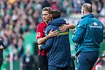 02.11.2019, wohninvest WESERSTADION, Bremen, GER, 1.FBL, Werder Bremen vs SC Freiburg<br /> <br /> DFL REGULATIONS PROHIBIT ANY USE OF PHOTOGRAPHS AS IMAGE SEQUENCES AND/OR QUASI-VIDEO.<br /> <br /> im Bild / picture shows<br /> Jubel 1:1, <br /> Nils Petersen (SC Freiburg #18) bejubelt seinen Treffer zum 1:1, <br /> <br /> Foto © nordphoto / Ewert
