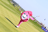 Golfsixes mascot in action on day 2 at the GolfSixes played at The Centurion Club, St Albans, England. <br /> 06/05/2018.<br /> Picture: Golffile | Phil Inglis<br /> <br /> <br /> All photo usage must carry mandatory copyright credit (&copy; Golffile | Phil Inglis)
