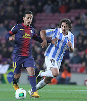 16.01.2013 Barcelona, Spain. Spanish Cup, quarter-final first leg. Picture show  Thiago in action during game FC Barcelona v Malaga at Camp Nou.