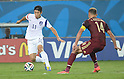 Lee Keun-Ho (KOR), Vasili Berezutski (RUS),<br /> JUNE 17, 2014 - Football / Soccer :<br /> FIFA World Cup Brazil 2014 Group H match between Russia 1-1 South Korea at Arena Pantanal in Cuiaba, Brazil. (Photo by SONG Seak-In/AFLO)