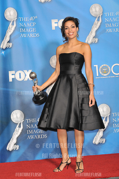 Rosario Dawson at the 40th Annual NAACP Image Awards at the Shrine Auditorium, Los Angeles..February 12, 2009  Los Angeles, CA.Picture: Paul Smith / Featureflash