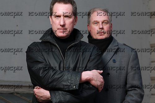 OMD - Orchestral Manoeuvres in the DARK<br />  - Andy McCluskey and Paul Humphreys - photosession in Paris France - 18 Mar 2013.  Photo credit: Manon  Violence/Dalle/IconicPix