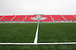 27 April 2007: A view across the field towards the East Stand.  BMO Field in Toronto, Ontario, Canada on the day before it was scheduled open with the inaugural home match of Major League Soccer expansion team Toronto FC.