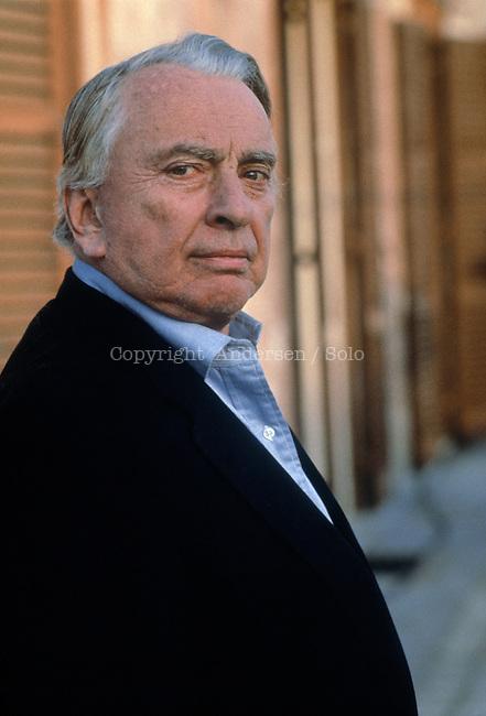 Gore Vidal, American writer in Rome, 1993.