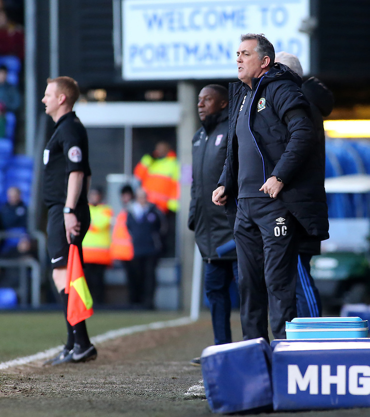 Blackburn Rovers manager Owen Coyle looks on from the touchline<br /> <br /> Photographer David Shipman/CameraSport<br /> <br /> The EFL Sky Bet Championship - Ipswich Town v Blackburn Rovers - Saturday 14th January 2017 - Portman Road - Ipswich<br /> <br /> World Copyright &copy; 2017 CameraSport. All rights reserved. 43 Linden Ave. Countesthorpe. Leicester. England. LE8 5PG - Tel: +44 (0) 116 277 4147 - admin@camerasport.com - www.camerasport.com