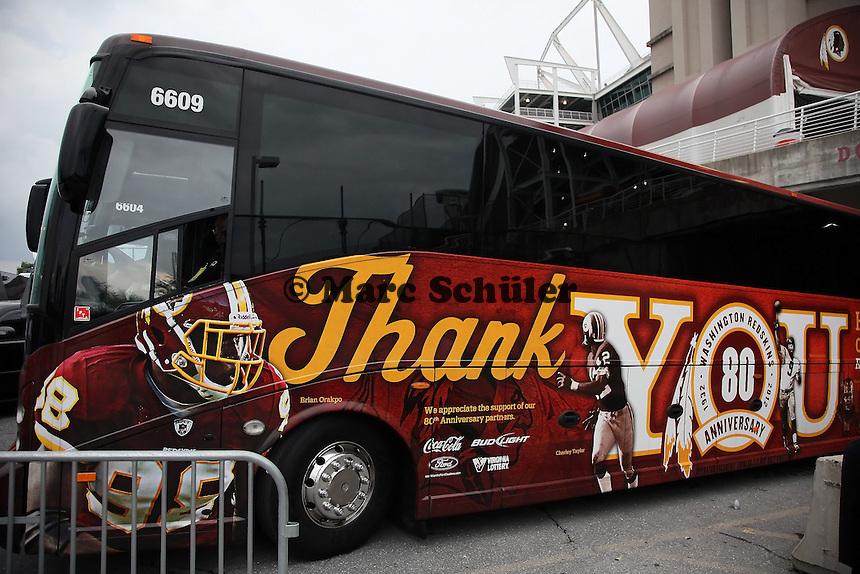 Bus der Washington Redskins