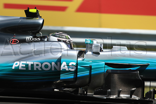 July 27th 2017, Hungaroring, Mogyoród, Hungary; Formula One Grand Prix of Hungary, free practise sessions; Valtteri Bottas - Mercedes AMG Petronas F1 W08 EQ Energy+