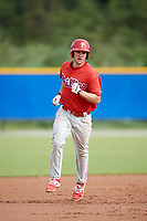 Philadelphia Phillies Greg Pickett (28) runs the bases during an Instructional League game against the Toronto Blue Jays on October 7, 2017 at the Englebert Complex in Dunedin, Florida.  (Mike Janes/Four Seam Images)