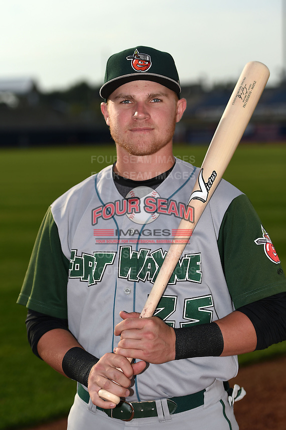 Fort Wayne TinCaps designated hitter Jake Bauers (25) poses for a photo before a game against the Lake County Captains on August 21, 2014 at Classic Park in Eastlake, Ohio.  Lake County defeated Fort Wayne 7-8.  (Mike Janes/Four Seam Images)